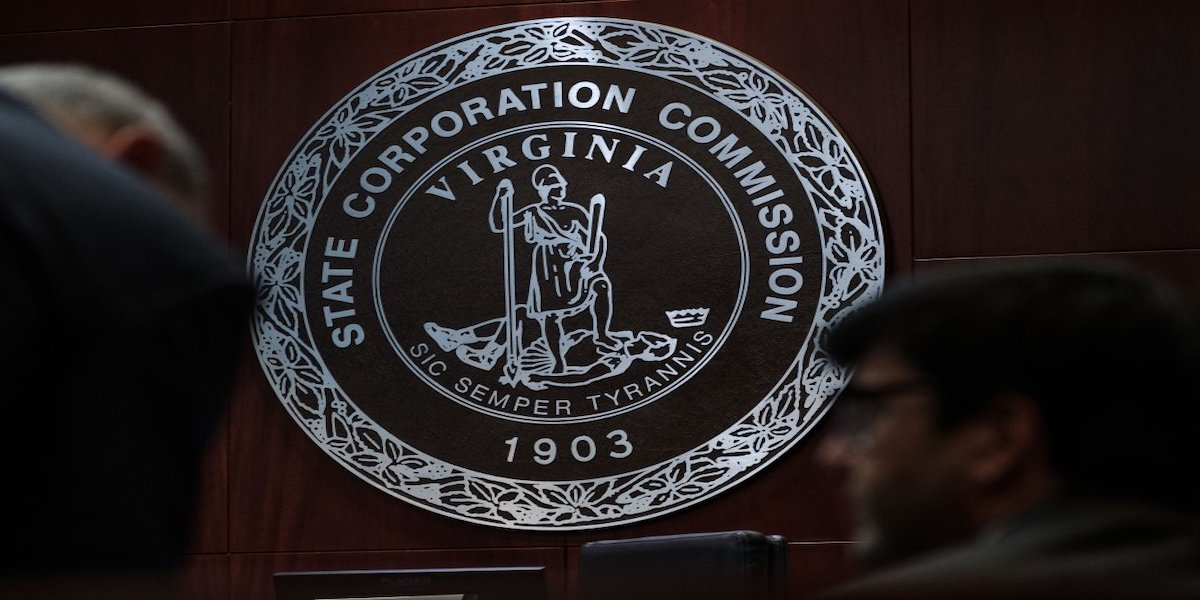 The State Corporation Commission seal. (Ned Oliver/ Virginia Mercury)